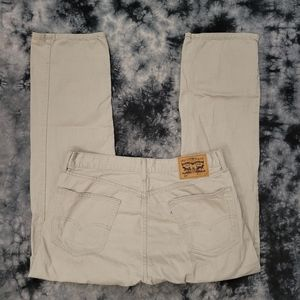 Levi's 505 Regular Fit Straight Leg Taupe Colored Jeans L32 32